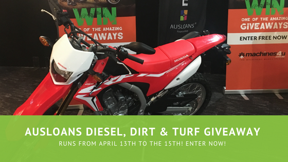 Ausloans Diesel, Dirt & Turf Giveaway